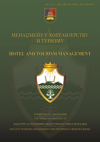 View Vol. 9 No. 1 (2021): Hotel and Tourism Management
